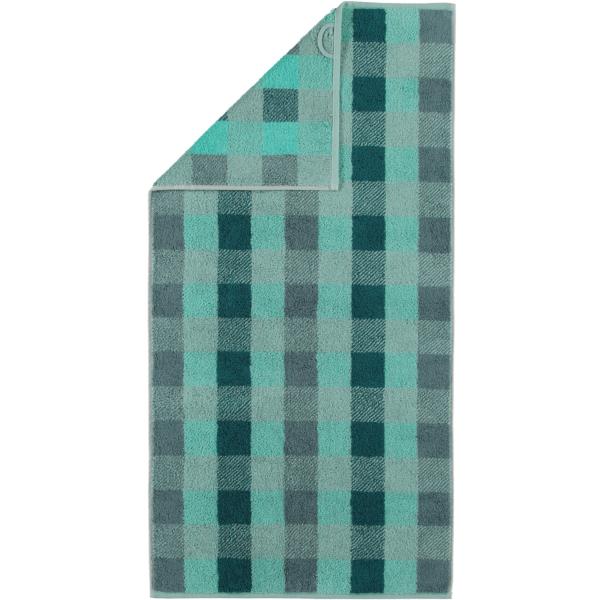 Cawö Check 770 - Farbe: seegrün - 44 Handtuch 50x100 cm