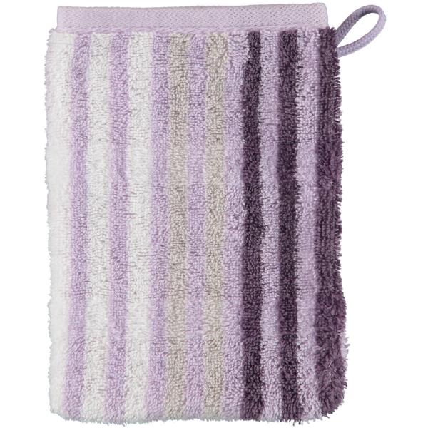 Cawö Noblesse Seasons Streifen 1083 - Farbe: lavendel - 88 Waschhandschuh 16x22 cm