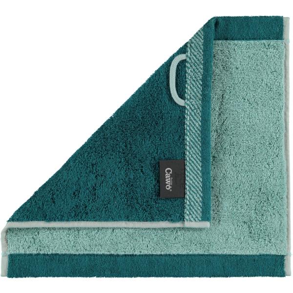 Cawö Plaid Doubleface 7070 - Farbe: seegrün - 44 Seiflappen 30x30 cm