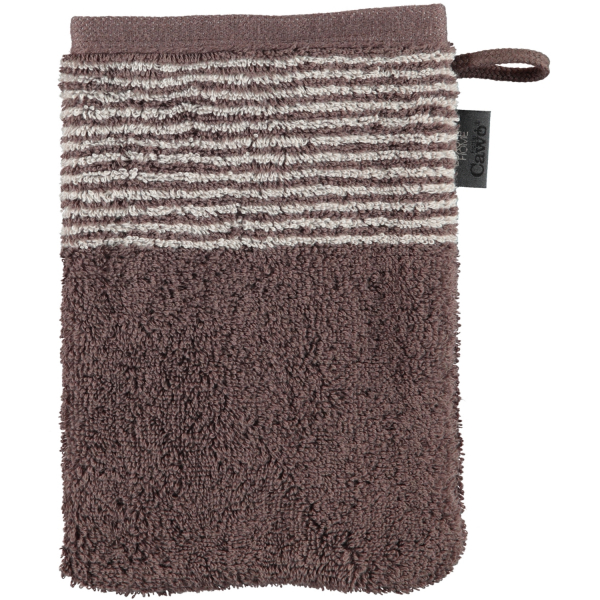 Cawö - Luxury Home Two-Tone 590 - Farbe: pepper - 37 Waschhandschuh 16x22 cm