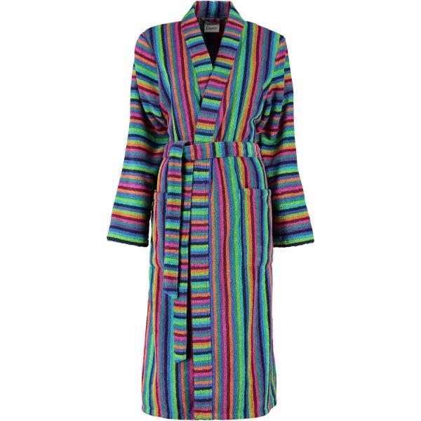Cawö - Damen Bademantel Walkfrottier - Kimono 7048 - Farbe: 84 - multicolor XS