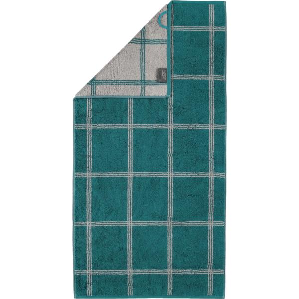 Cawö - Luxury Home Two-Tone Grafik 604 - Farbe: smaragd - 44