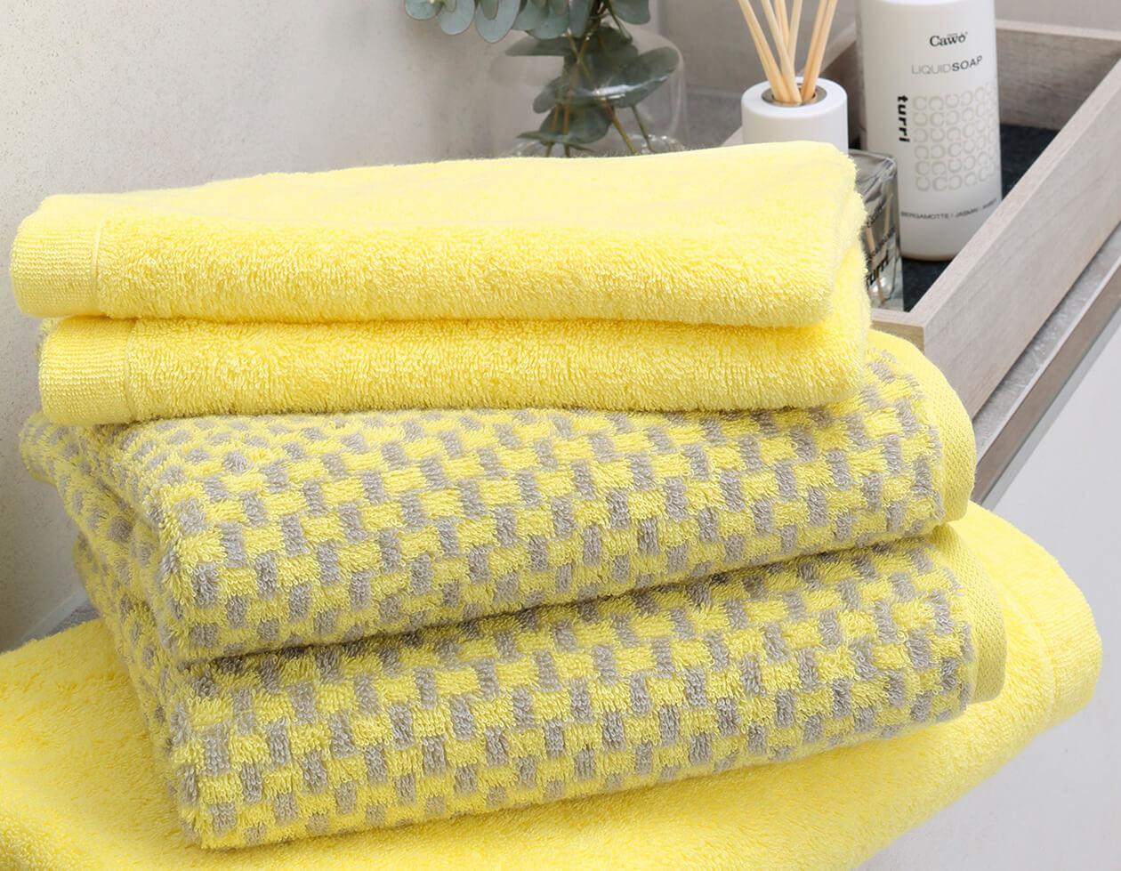 Cawö Reed Streifen 957 - Farbe: lemon - 57 Detailbild 1