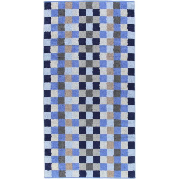 Cawö - Unique Karo 942 - Farbe: saphir - 11 Duschtuch 70x140 cm