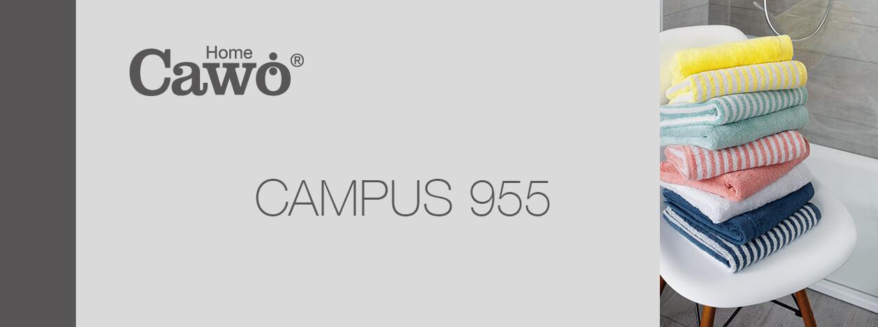 Cawö - Campus Ringel 955 - Farbe: nachtblau - 17 Seiflappen 30x30 cm Detailbild 2