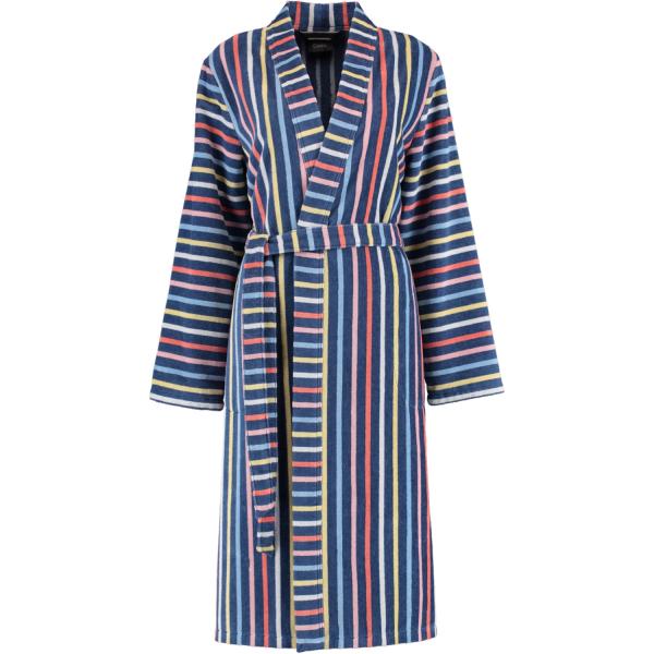 Cawö Damen Bademantel Kimono 3343 - Farbe: blau-multicolor - 12 XL