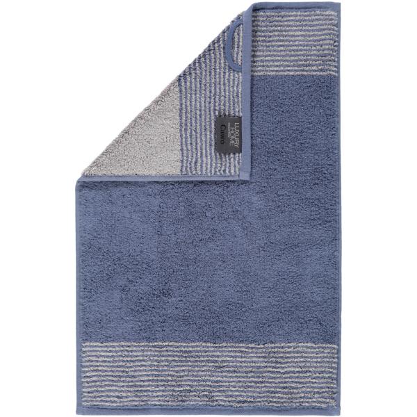 Cawö - Luxury Home Two-Tone 590 - Farbe: nachtblau - 10 Gästetuch 30x50 cm