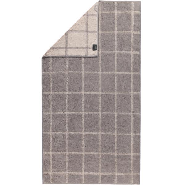 Cawö - Luxury Home Two-Tone Grafik 604 - Farbe: graphit - 70 Duschtuch 80x150 cm