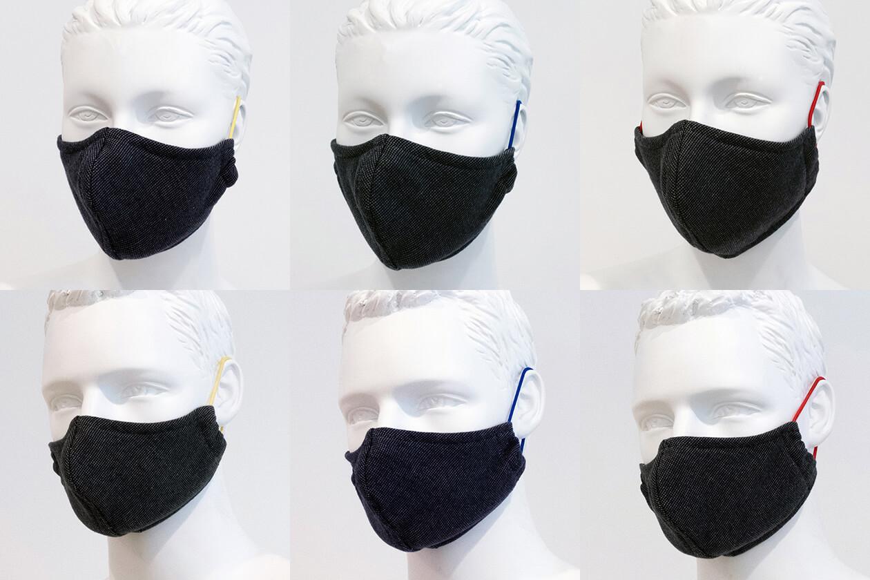 Cawö Mund- und Nasenmaske 9903 - 2er Pack - Farbe: dunkelgrau - 99 (Gummikordel farblich sortiert) Detailbild 3