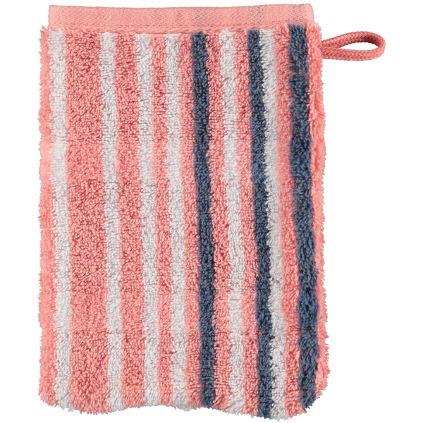 Cawö - Noblesse Lines 1082 - Farbe: rouge - 22 Waschhandschuh 16x22 cm