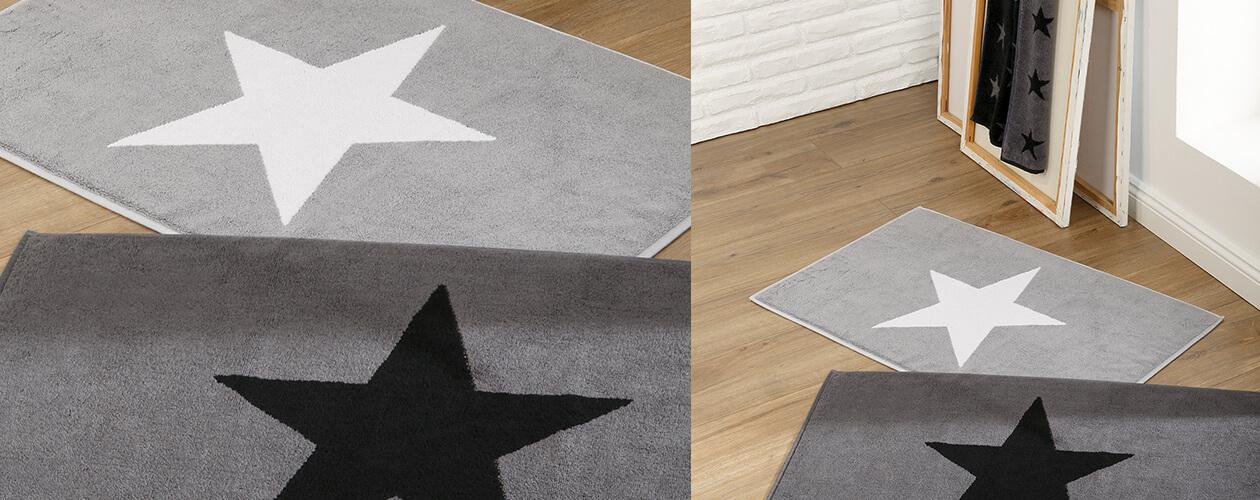 Cawö Badematte Stars 524 - Farbe: anthrazit - 90 Detailbild 2