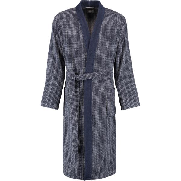 Cawö Herren Bademantel Kimono 3831 - Farbe: blau-graphit - 17 M