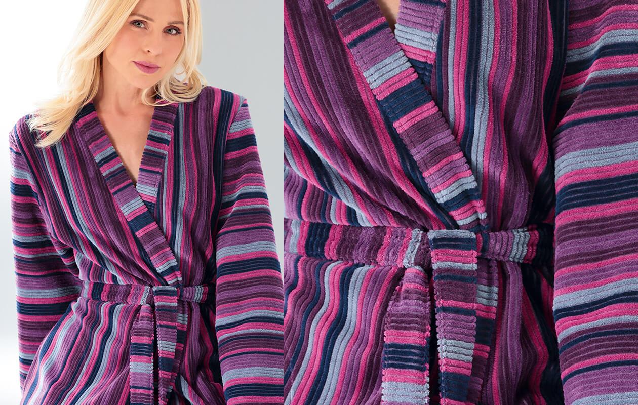 Cawö Damen Bademantel Kimono 2215 - Farbe: aqua - 44 Detailbild 3