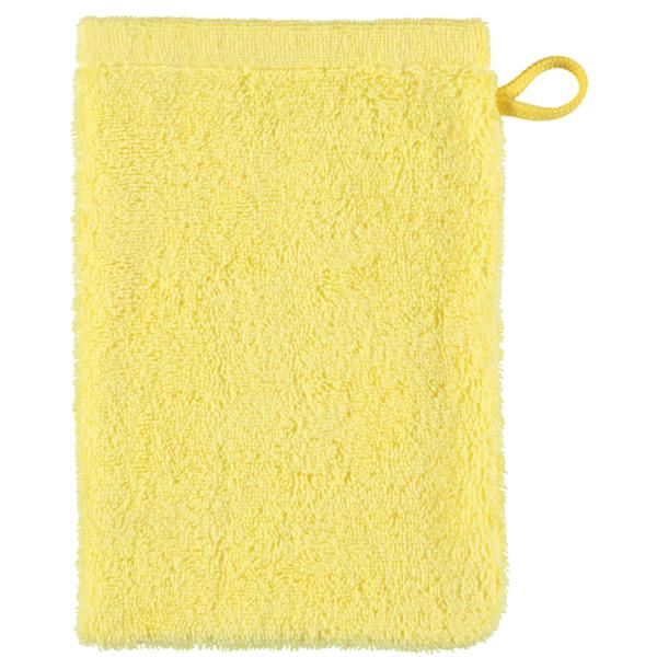 Cawö - Life Style Uni 7007 - Farbe: lemon - 501 Waschhandschuh 16x22 cm