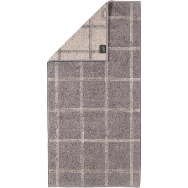 Cawö - Luxury Home Two-Tone Grafik 604 - Farbe: graphit - 70 Handtuch 50x100 cm