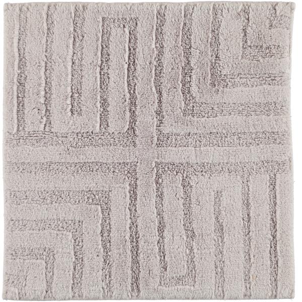 Cawö Home - Badteppich Struktur 1004 - Farbe: silber - 775 60x60 cm