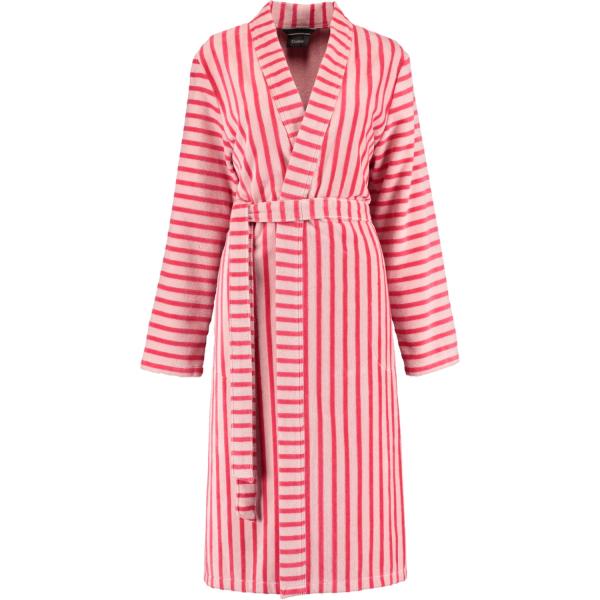 Cawö Damen Bademantel 3339 Kimono - Farbe: koralle - 22 XL