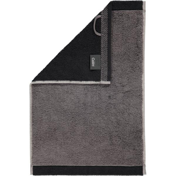 Cawö Plaid Doubleface 7070 - Farbe: anthrazit - 79 Gästetuch 30x50 cm